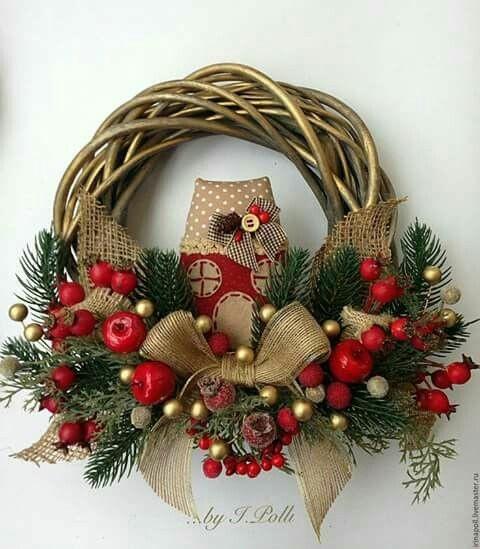 Immagini Di Ghirlande Di Natale.Ghirlanda Natalizia Made In Italy Le Creazioni Di Giovanna